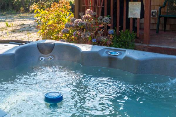 Hot tub photo. Many of our homes have private hot tubs