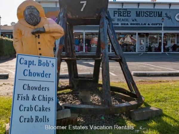 Captains Bob Clam Chowder Sign