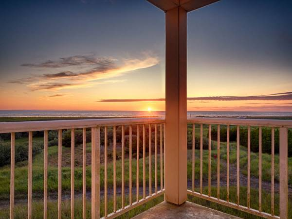 Sunset Romance vacation rental sunset view from the deck