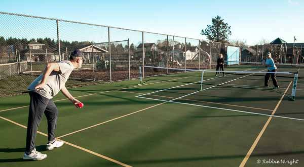 People love playing pickleball in Culberston Park in Long Beach Washington
