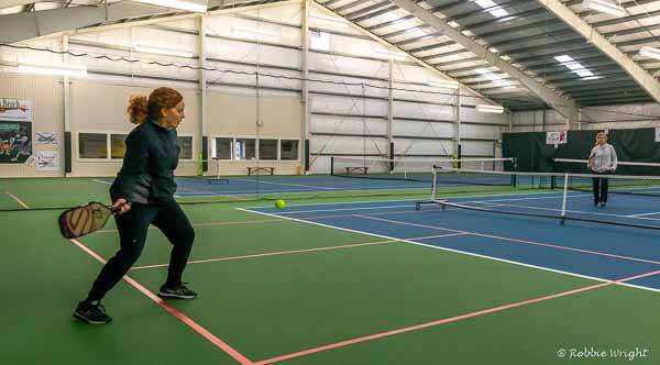 Long beach has an indoor pickleball court for visitors