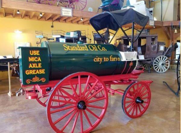 Photo of a carriage in the museum