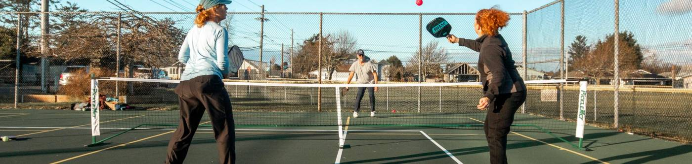 Pickleball is a local past time in Long Beach Washington